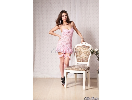 Ruche Sensual Chemise With Frills