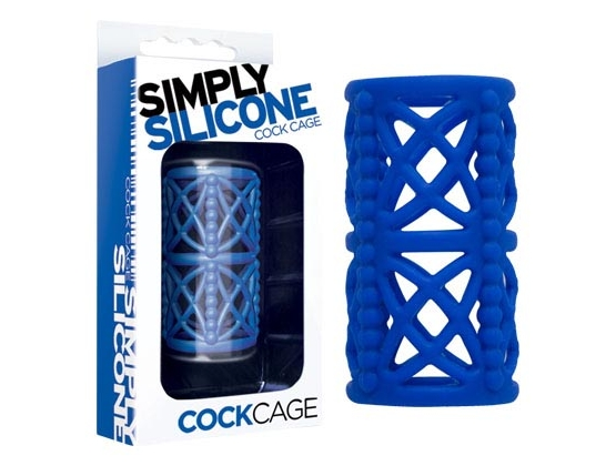 Simply Silicone Cock Cage Sky Blue