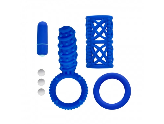 Simply Silicone 10X Couples Kit Blue