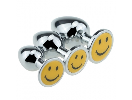 Smiling Face Steel Anal Plug