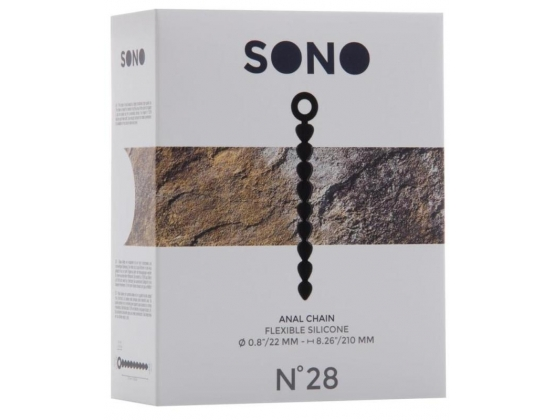 SONO No. 28 Anal Chain Black