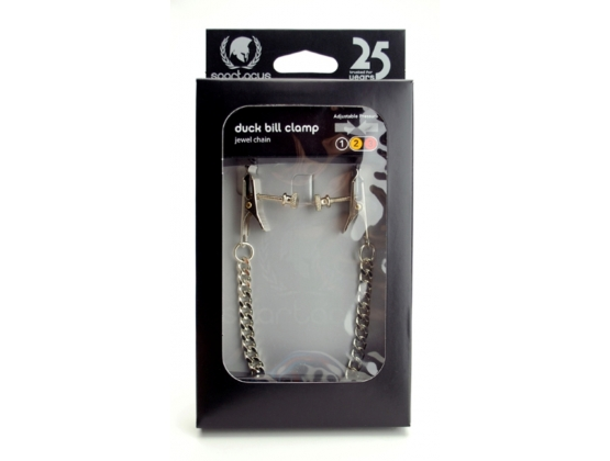 Spartacus Adjustable Duck Bill Clamps with Jewel Chain
