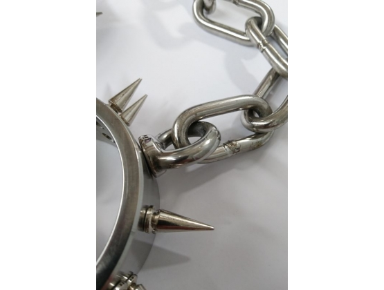 Spiked Steel Ankle Cuffs