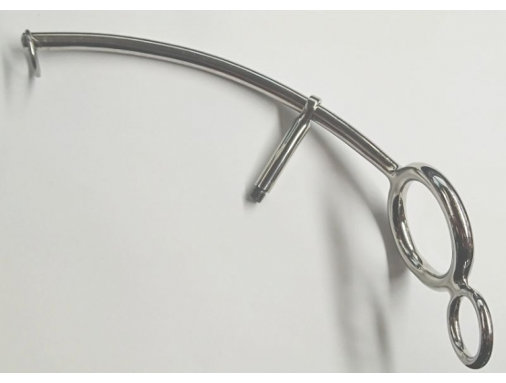 Steel Anal Hook With Cock Ring