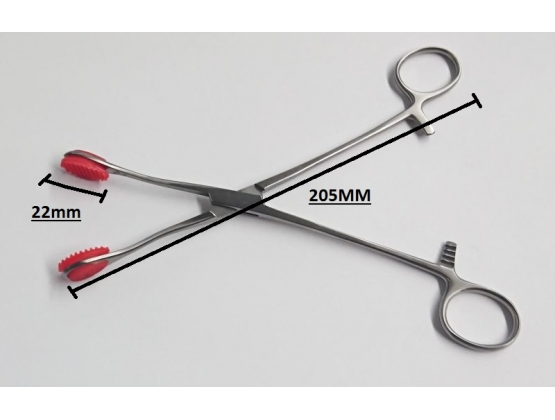 Young Tongue forceps with Straight Handle 20cm