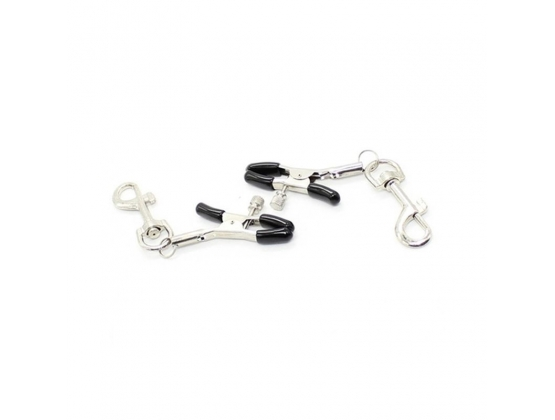 Metal Nipple Clamp With Leash Clips