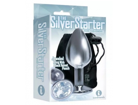 The 9's Silver Starter Heart Jewelled Plug