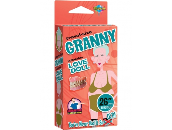 Travel-size Granny Inflatable Love Doll