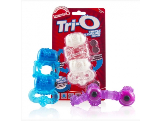 ScreamingO Tri-O Triple Pleasure Ring