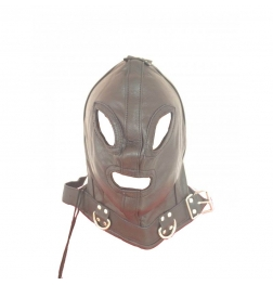 Absolute Kinky Faux Leather Hood