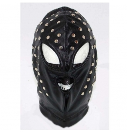 Achiles Stretch Extreme Leather Hood Studded
