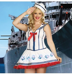 Anchor Management White Sailor Costume