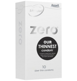 Ansell Zero Uber Thin Condom with Dots 10 pack