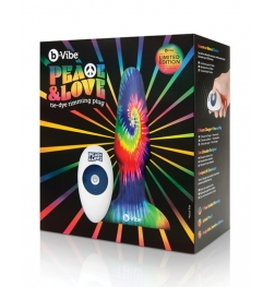 b-Vibe Peace and Love Tie-Dye Rimming Plug