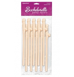 Bachelorette Party Favors Dicky Sipping Straws 10 Pack