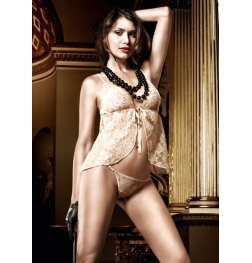 Baci Lace Babydoll with G-String