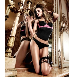 Baci Microfibre And Lace Bustier