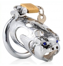 Chinese Zodiac Cock Cage - Pig - SILVER