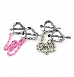 Cupid Nipple Press Clamps With Chain