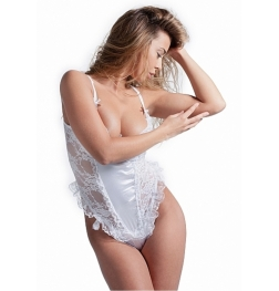 De Namour White Teddy Set With G-String