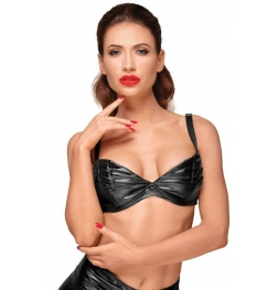 Decadence Powerwetlook Bra with Handmade Pleats