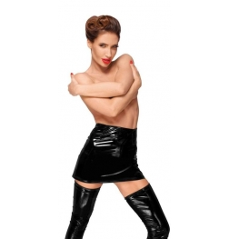Decadence Powerwetlook PVC Mini Skirt with Long Hidden Zipper