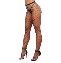 Dreamgirl Fence Net Pantyhose Black