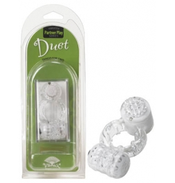 Vibratex Duet Cock Ring Clear