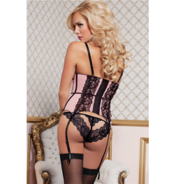 Eleganza Mesh and Scalloped Lace Bustier