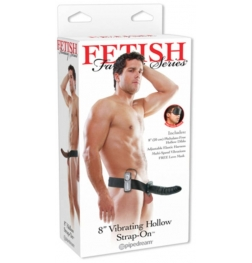 Fetish Fantasy 8 inch Vibrating Hollow Strap-On