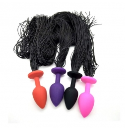 Horsetail Silicone Anal Plug Small