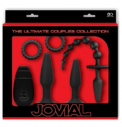 Jovial 5 Piece Anal Kit With Vibrating Butt Plug