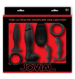 Jovial 6 Piece Anal Kit with Vibrating Butt Plug