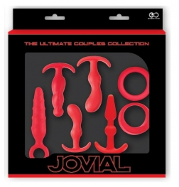 Jovial 7 Piece Anal Kit Red