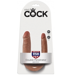 King Cock U Shaped Double Trouble Tan