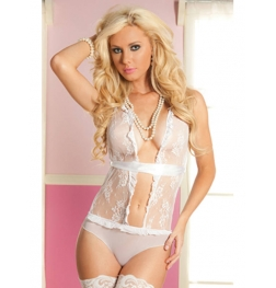Lace and Mesh Teddy
