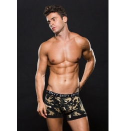 Logo Elastic Boxer Brief Green Camo