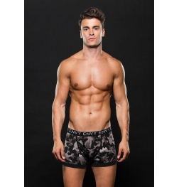 Logo Elastic Boxer Brief Grey Camo