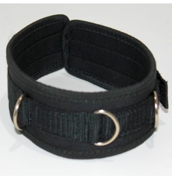Neoprene BDSM Velcro Collar with D Links