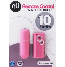 Nu Sensuelle S-Wet Remote Control 10 Function Wireless Bullet