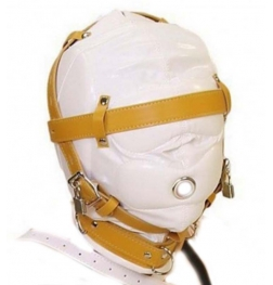 Obey Sir Sensory Deprivation Hood White Leather