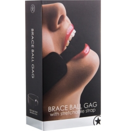 Ouch! Brace Ball Gag Black