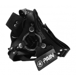 Pain Leather Strap-On Harness