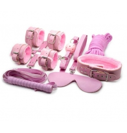 Pink Plush SM Bondage Kit 7 Pcs