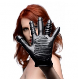 Pleasure Poker Textured Vibration Glove