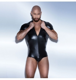 POWERWETLOOK Body with Two Way Zipper and Short Sleeve