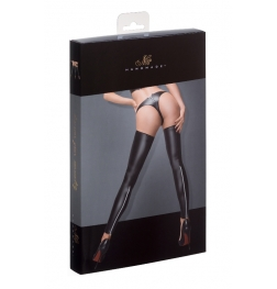 Powerwetlook Stockings and Panties with Silver Zipper