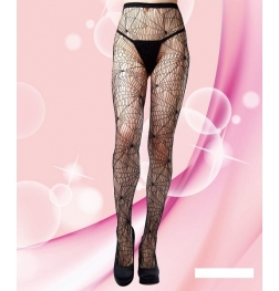 Delilah Pantyhose Spiderweb Design