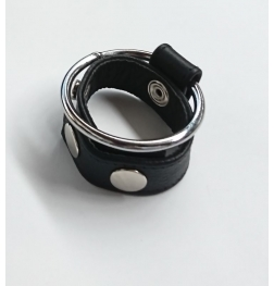 Sexy Dees Leather & Metal Cock Ring
