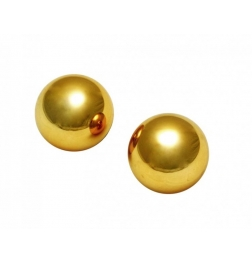 Sir's Gold Plated 1 inch Kegel Balls